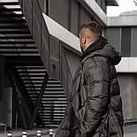 😜 Пуховик - Мужскаяя куртка зима черного цвета удлиненная (утеплен синтепоном), фото 2