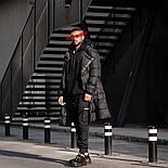 😜 Пуховик - Мужскаяя куртка зима черного цвета удлиненная (утеплен синтепоном), фото 3
