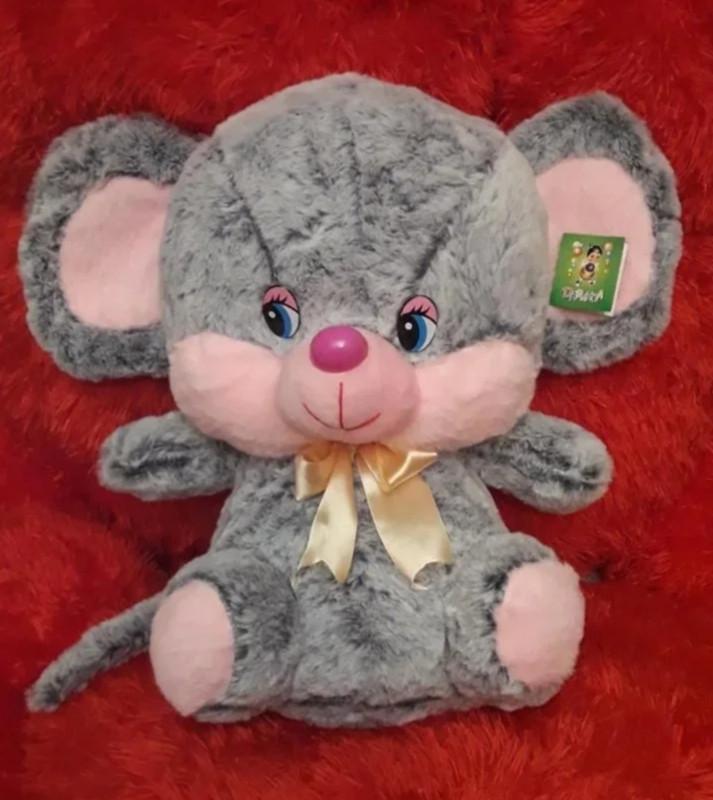 Мягкая плюшевая игрушка 45см Мышка (серая)
