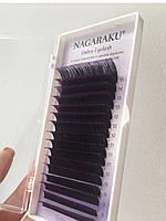 """Ресницы омбре фиолетовые """"NAGARAKU"""", mix C/0.07 (7-15 мм)"""