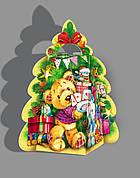 Упаковка святкова новорічна з картону Тубус великий (червоний), 500гр