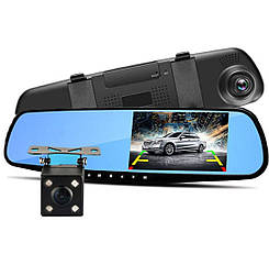 Видеорегистратор - Зеркало + Камера заднего вида (4.3 TFT/ Full HD/ 170°/ G-Sensor)