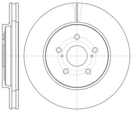Тормозной диск LEXUS RX (_L1_) / LEXUS RX (_U3_) / TOYOTA HARRIER (_U3_) 2003-2015 г.