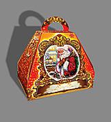 Упаковка новогодняя из картона Саквояж Санта Клаус оптом, на вес до 1500г