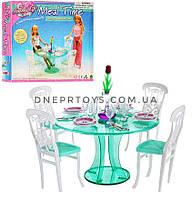 Детская игрушечная мебель Gloria для куклы Барби СТОЛОВАЯ.  Обустройте кукольный домик. (Глория 2811)