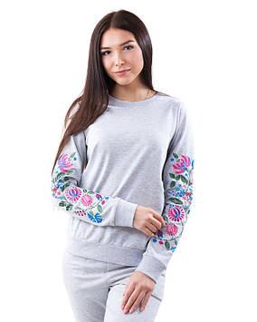 Пуловер женский с вышивкой (размеры XS-2XL)