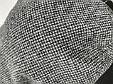 Кепка женская кашемировая, серая в клеточку, фото 6