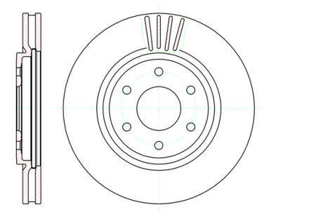 Тормозной диск NISSAN PATHFINDER III (R51) / NISSAN NP300 NAVARA (D40) 2004- г.