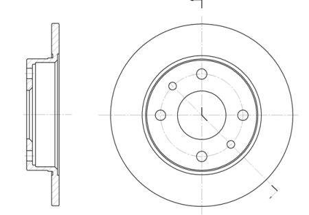 Тормозной диск LANCIA DELTA II (836_) / FIAT 500 C (312_) / FIAT PANDA (169_) 1980-2012 г.