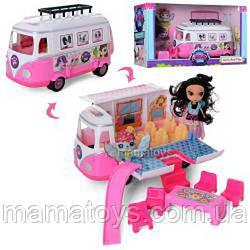 Автобус Набор фигурок TM155 PS,домик на колесах, 23 см, мебель, кукла 11 см, в кор-ке, 39-22,5-16 см