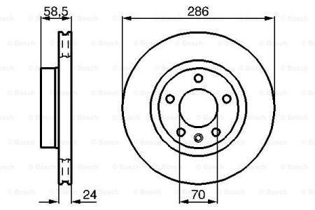 Тормозной диск OPEL OMEGA B универсал (V94) / VAUXHALL OMEGA 1993-2005 г.