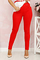 Брюки женские, цвет: Красный, размер: 50, 52, 54, 56