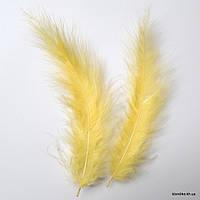 Перья декоративные, 11-15 см, Цвет: Желтый (20 шт.)