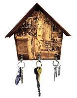 Ключница настенная Home Vintage Кресло - стильная ключница для дома из массива ольхи