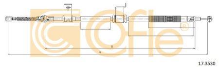 Трос стояночного тормоза OPEL ANTARA (L07) / VAUXHALL ANTARA (L07) 2006- г.