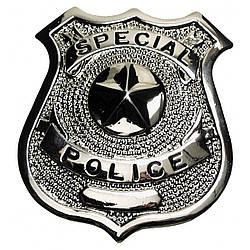 "Металлический значок США ""Special police"" серебристый"