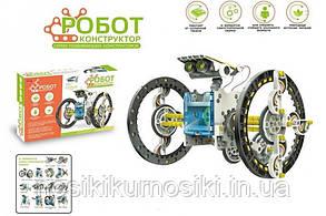 Робот конструктор на сонячній батареї Solar Robot 14 в 1, інструкція російською