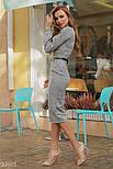Стильное клетчатое платье-миди, фото 3