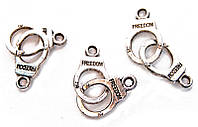Подвеска металлическая, серебристый(10 шт) 77_224