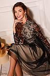 Вечернее платье-миди с кружевным верхом, фото 3
