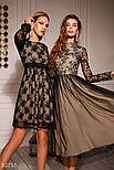 Вечернее платье-миди с кружевным верхом, фото 5