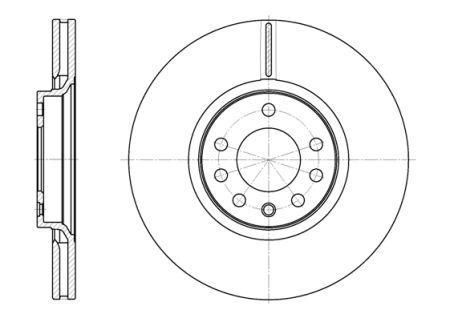 Гальмівний диск BAIC SENOVA D70 / OPEL MERIVA A вен (X03) / OPEL CORSA E (X15) 1993-2017 р.