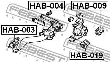 Сайлентблок важеля HONDA CIVIC VII купе (EM2) / HONDA ELYSION 1999-2007 р.