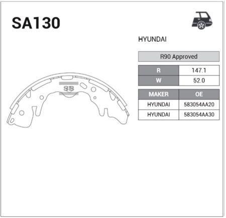 Гальмівні колодки HYUNDAI H-1 / STAREX вен (A1) 1997-2008 р.