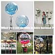 "Воздушный шар абсолютно прозрачный шар bubbles / бабл 18"" ( 45 см.), фото 8"