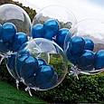 "Воздушный шар абсолютно прозрачный шар bubbles / бабл 18"" ( 45 см.), фото 6"