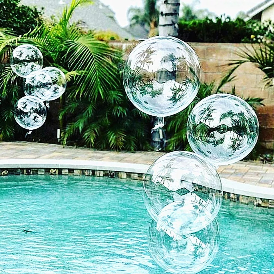 """Воздушный шар абсолютно прозрачный шар bubbles / бабл 18"""" ( 45 см.)"""