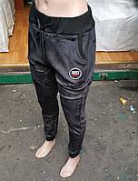Брюки женские велюровые на меху AO Longcom, с манжетами, карманы по бокам, размер M, L, XL, 997
