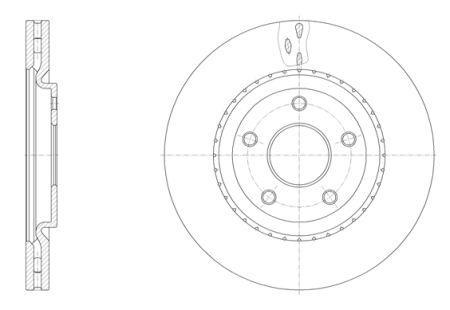 Гальмівний диск LANCIA VOYAGER вен (404_) / CHRYSLER GRAND VOYAGER V (RT) 2007-2014 р.