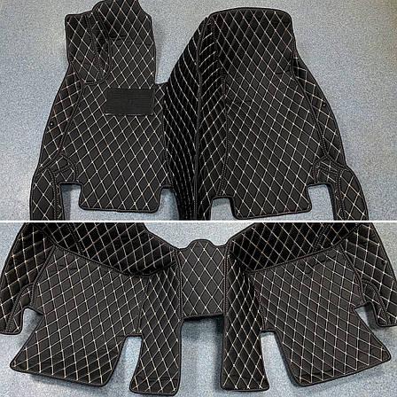 Комплект ковриков из экокожи для Mercedes GLA, от 2013 года, фото 2