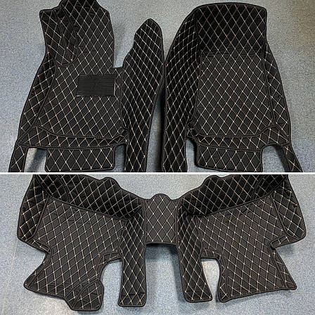 Комплект ковриков из экокожи для Mercedes GLC, от 2016 года, фото 2