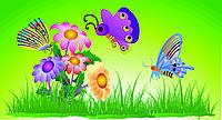 "Картина ""Бабочки и цветочки"""