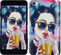 "Чехол на Xiaomi Redmi Note 5A Арт-девушка в очках ""3994c-1401-17206"""