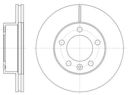 Гальмівний диск OPEL MOVANO B Фургон (X62) / VAUXHALL MOVANO Mk II (B) Combi (X62) 2010 р.