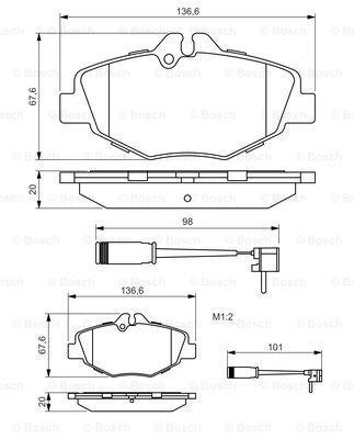 Тормозные колодки к-кт. MERCEDES-BENZ E-CLASS (W211) 2002-2009 г.