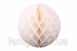 """Подвесной шар """"Соты"""" тассел 30 см Белый"""