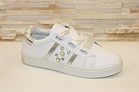Слипоны женские белые Жемчуг Т959, фото 1