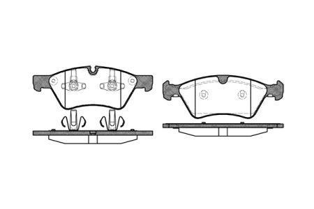 Тормозные колодки, к-кт. MERCEDES-BENZ E-CLASS (W211) 1989-2013 г.