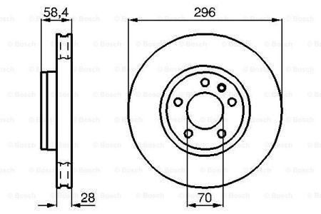 Гальмівний диск OPEL OMEGA B універсал (V94) / VAUXHALL OMEGA 1986-2005 р.