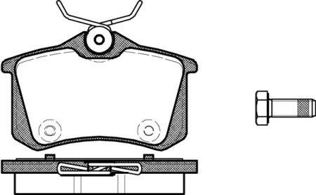 Гальмівні колодки, к-кт. PEUGEOT 207 CC (WD_) / PEUGEOT (DF-PSA) 2008 2004-2016 р.