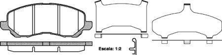 Тормозные колодки, к-кт. DODGE CALIBER / MITSUBISHI LANCER VIII (CY_A, CZ_A) 2003-2017 г.