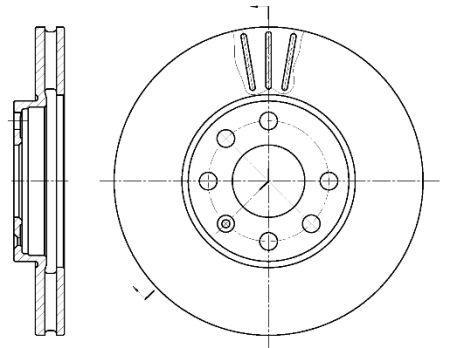Гальмівний диск OPEL ASTRA G універсал (T98) / VAUXHALL ASTRA Mk IV 1991-2009 р.