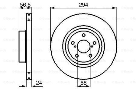 Гальмівний диск SUBARU IMPREZA wagon (GG) / SUBARU LEGACY V (BM) 1992-2015 р.