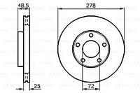 Гальмівний диск MAZDA 3 седан (BL) / MAZDA 3 (BL) / MAZDA 5 (CR19) 1999-2014 р.