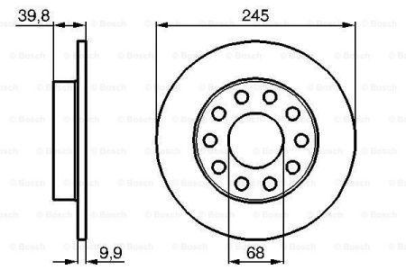 Тормозной диск SEAT EXEO (3R2) / AUDI A4 (8E2, B6) / AUDI 80 (8C2, B4) 1988-2013 г.