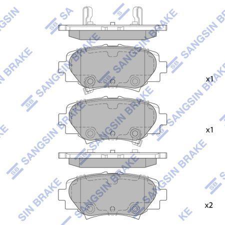 Гальмівні колодки MAZDA / MAZDA 3 (BM, BN) / MAZDA / MAZDA 3 седан (BM, BN) 2013 р.